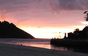 Ribadesella puesta de sol